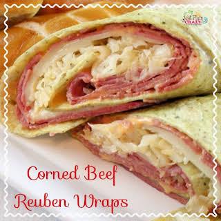 Corned Beef Reuben Wraps Recipe #NationalHotPastramiSandwichDay.