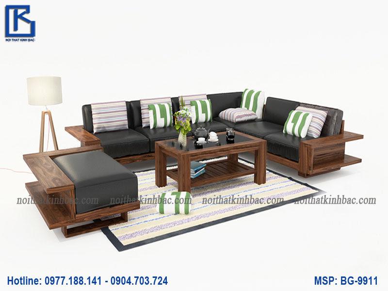 Mẫu bàn ghế gỗ phòng khách nhỏ gọn BG-9911