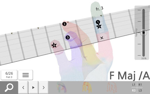 Guitar Chord 3D Pro app for Android screenshot