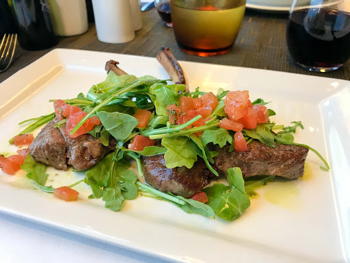lamb-chops-canaletto.jpg - Lamb chops served at Canaletto on Holland America's Oosterdam.