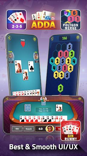 Adda : Rummy , Callbreak ,Solitaire & 29 Card Game modavailable screenshots 15