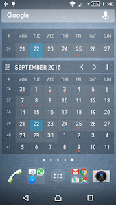 Calendar Widget Month + Agenda screenshot 1