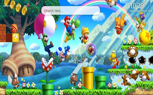 Mario HD Wallpaper New Tab Theme