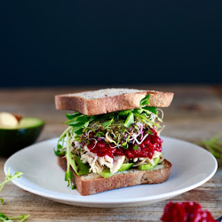 Turkey Sprout & Avocado Sandwich with Mom's (Unreal!) Beet Horseradish.