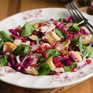 Pomegranate Spinach Chicken Salad.