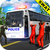 Police Bus Uphill Drive Simulator game