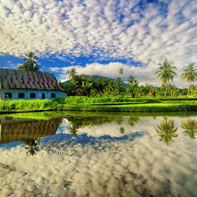 Church and Cloud by Andrew Supit - Landscapes Cloud Formations