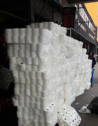 More than 150 bales of municipal toilet paper were discovered at a Durban convenience store on Monday