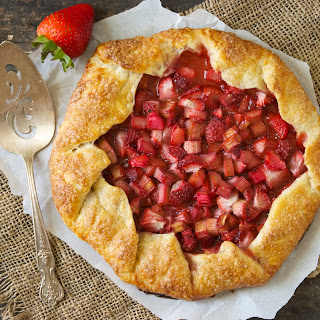 Rhubarb and Strawberry Galette Recipe