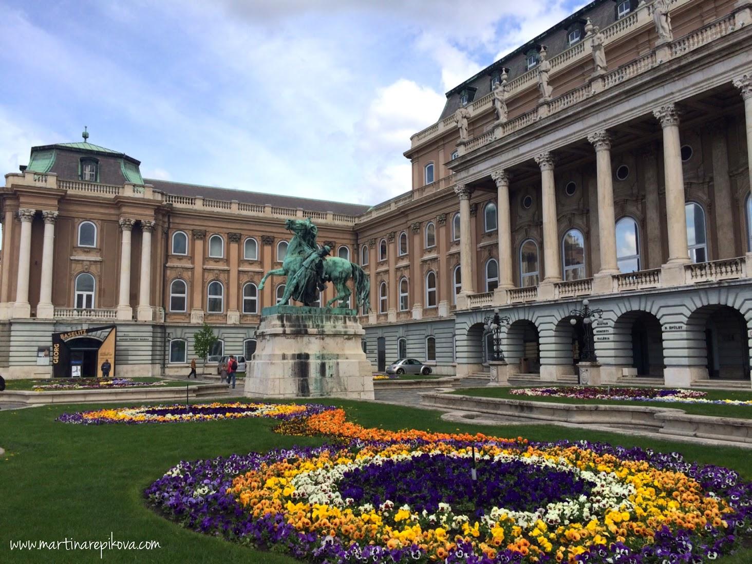 Royal palace courtyard
