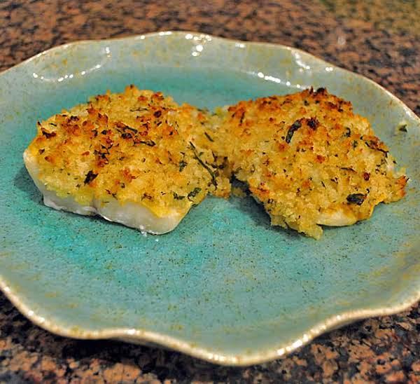 Cod Fillets With Mustard Tarragon Crumb Crust