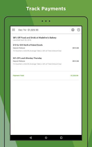 Groupon Merchants Screenshot