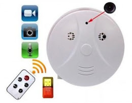 Camera spion cu telecomanda in forma de detector de fum si senzor de miscare