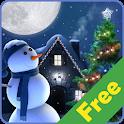 Christmas Moon free icon