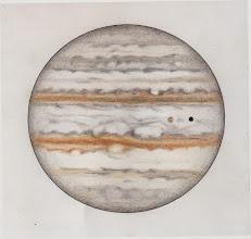 Photo: Jupiter le 17 février 2015, entre 23h25 et 23h59 TU. T406 à 470X en bino. Io et son ombre transitent devant Jupiter.
