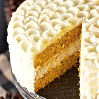 Pumpkin Cheesecake Layer Cake