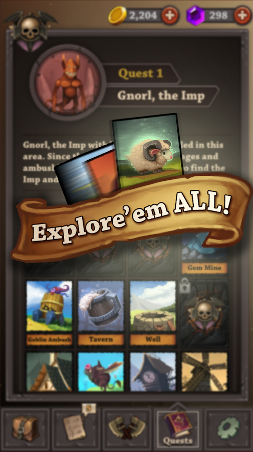 Quest Cards- screenshot