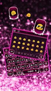 Sparkling Pink Neon Roses Keyboard 10001007 Download Mod Apk 2