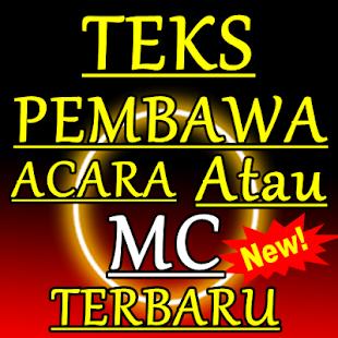 TEKS PEMBAWA ACARA ATAU MC TERBARU DAN KOMPLIT - náhled