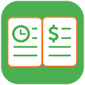 Green Timesheet - shift work log and payroll app icon