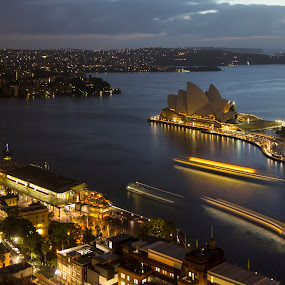 Opera House, Sydney by Ajay Sood - Travel Locations Landmarks ( pwclandmarks, ajay, ajay sood, sood, travelure, travel, opera house, sydney, city, night )