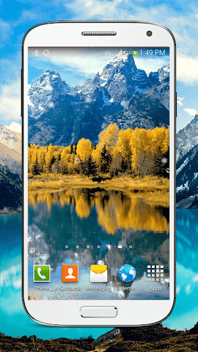 "Живые обои ""Mountain Lake Live"" для планшетов на Android"