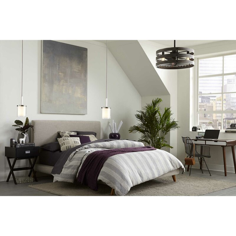 Sturdy Ceiling Fan with Drum Shade
