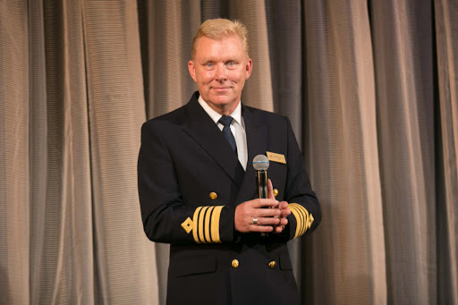 Viking-Sun-captain-1.jpg -   Atle Knutsen, captain of Viking Sun, on stage during the welcoming ceremonies.