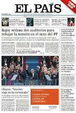 Photo: Rajoy abre dos auditorías para rebajar la tensión en el seno del PP, la investidura de Obama y el aeropuerto de Castellón sirve a un piloto de carreras para entrenarse, en la portada de este martes.  http://srv00.epimg.net/pdf/elpais/1aPagina/2013/01/ep-20130122.pdf