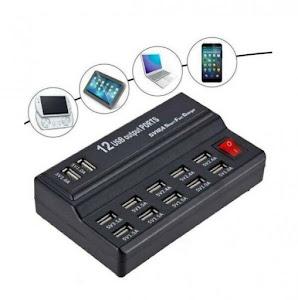 Incarcator fast charge cu 12 porturi USB