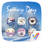 Snowy Day V Launcher Theme