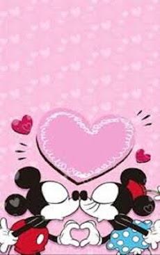 Minnie valentine wallpaper android applion minnie valentine wallpaper5 voltagebd Choice Image