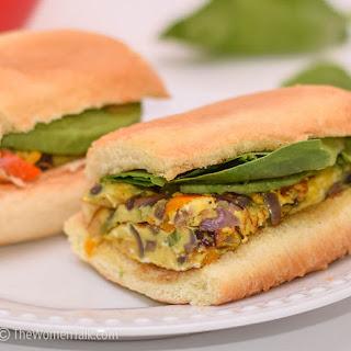 Breakfast Egg Spinach and Avocado Sandwich