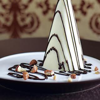 Nougat Semifreddo in White Chcocolate Cones