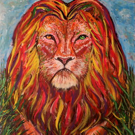 Lion King by Jeff Jeudy - Painting All Painting ( lion king, abstract painting )