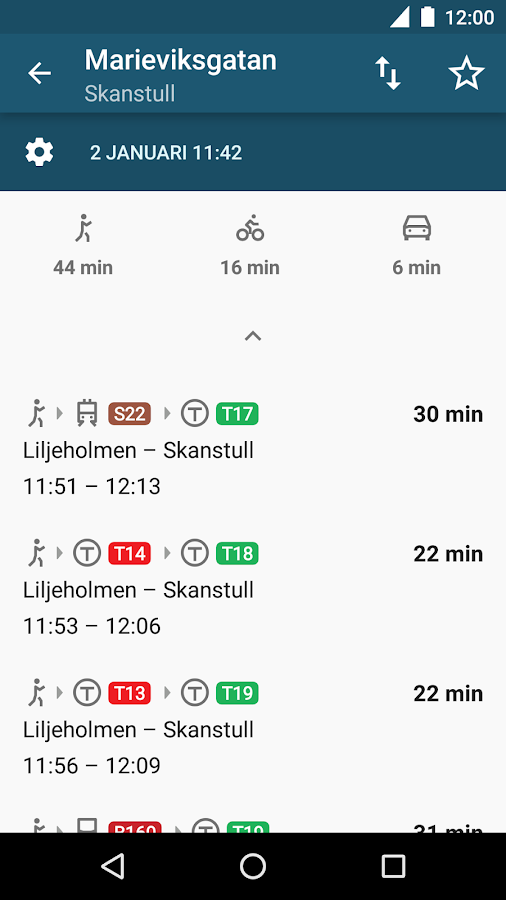 STHLM Traveling - SL Planner- screenshot