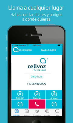 Cellvoz - screenshot