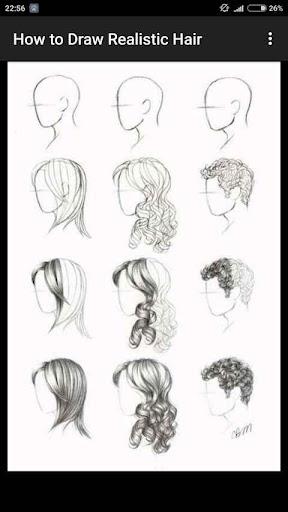 How to Draw Realistic Hair  screenshots 6