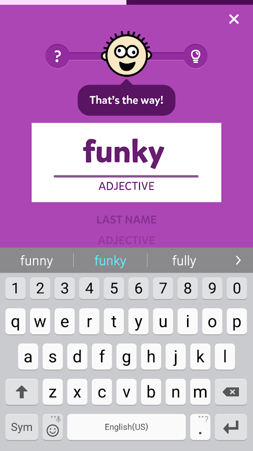 Mad Libs- screenshot