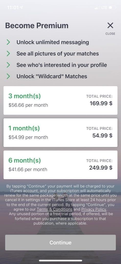 elite singles dating app price