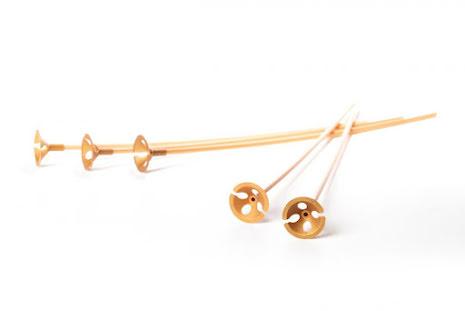 Ballongpinnar 10-pack - guld