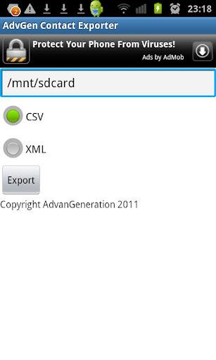 AdvGen Contact Exporter screenshots 1