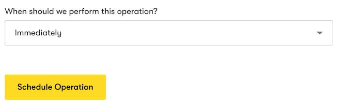Bulk operation scheduler