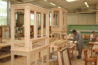 Photo: Ohišje pozitiva v nastajanju - Positivgehäuse in Arbeit - Case for a positive organ taking shape