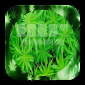 GO Keyboard Falling Weed Theme