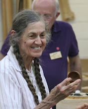 Photo: Margaret Follas shows her mini cherry bowl.