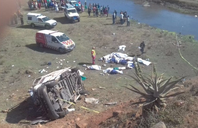 Image result for At least 18 killed in KZN taxi crash