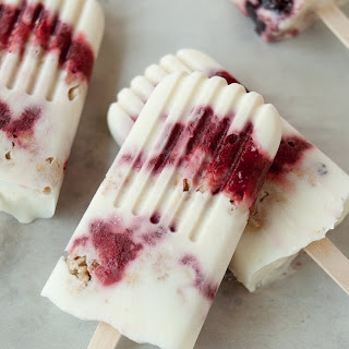 Yogurt Parfait Breakfast Popsicles.