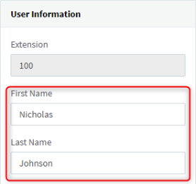 """<b><b><b>""""First Name""""</b></b></b> &amp; <b><b><b>""""Last Name""""</b></b></b> fields in Extension &gt; &quot;General&quot; tab"""