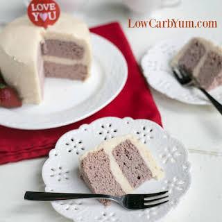 Strawberry Coconut Flour Mug Cake.